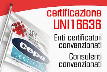 Certificazione UNI 16636